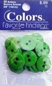 Colors Favorite Findings Grass green Buttons