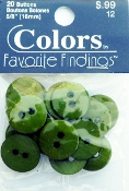 Colors Favorite Findings Fern Green buttons