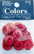 Colors Favorite Findings Fuchsia Buttons
