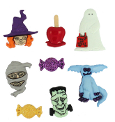 Dress It Up Buttons - Happy Haunting - Craft Sewing Buttons