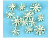 Dress It Up Buttons - Pearl Snowflakes with shanks - crafts, scrapbooking, sewing