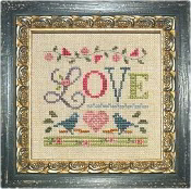 Lizzie Kate, A Little Love counted cross stitch kit