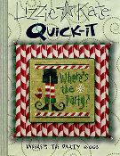 Lizzie Kate Quick-It Where's the Party counted cross stitch pattern chart