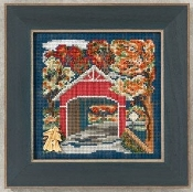 Mill Hill Autumn Series - Covered Bridge - Beaded counted cross stitch kit