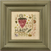 Lizzie Kate Quick-It Strawberry Sampler Cross Stitch Chart