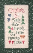 Lizzie Kate Christmas Is Counted cross stitch pattern