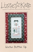 Lizzie Kate Winter Button Up counted cross stitch pattern and button