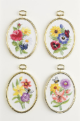 Janlynn Crewel Embroidery Kit - Bee & Butterfly Florals