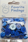 Favorite Findings Blue Flat Back Sewing Buttons