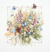 Lanarte - Summer Bouquet - counted cross stitch picture kit