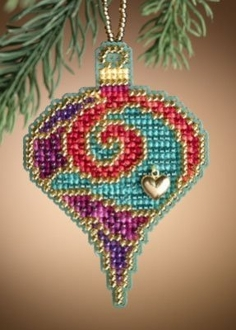 Mill Hill - Garnet Spiral - Christmas Ornament Cross Stitch Kit
