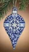 Mill Hill, Sapphire Snow - Christmas Ornament Cross Stitch Kit
