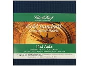 Charles Craft Silver Standard 14 count Navy Aida counted cross stitch fabric