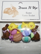 Dress It Up Craft Buttons, Easter Basket