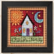 Mill Hill Sticks Cherish Family beaded counted cross stitch kit