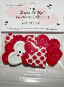 Dress it Up Craft Buttons Gift of Love Heart Buttons
