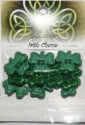 Dress It Up Craft, Scrapbooking Buttons - Irish Charm Shamrocks