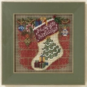 Mill Hill Winter Series Holiday Stocking Counted Cross Stitch kit, Christmas