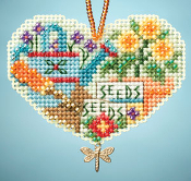 Mill Hill Charmed Ornaments - Love Gardening - Cross Stitch Kit