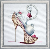 Design Works Crafts Fashionista Cat counted cross stitch picture kit