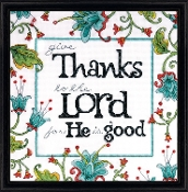 Design Works Crafts - Give Thanks - Beaded counted cross stitch picture kit