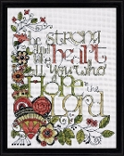 Design Works Crafts - Be Strong - Beaded counted cross stitch picture kit