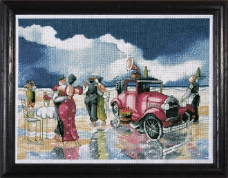 Design Works Crafts Counted Cross Stitch Picture kit - Beach Waltz