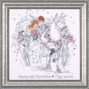 Design Works Crafts - Wedding Carriage counted cross stitch picture kit