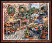 Design Works - Sidewalk Cafe, Counted Cross Stitch Picture Kit