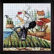 Design Works Crafts Fine Wine counted cross stitch picture kit
