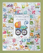 Design Works Crafts, Special Delivery Baby ABC Sampler counted cross stitch kit