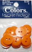 Colors Favorite Findings Orange Buttons
