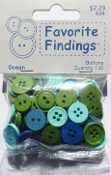 Favorite Findings Ocean Sewing Buttons, Scrapbooking