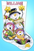 Design Works Let It Snow Christmas counted cross stitch stocking kit