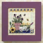 Mill Hill Spring Series Potting Table counted cross stitch kit