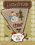 Lizzie Kate Jingles Flip-It Cheer counted cross stitch pattern with embellishments
