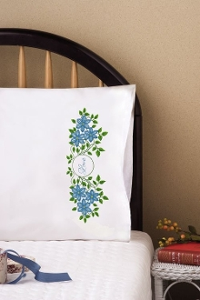 Tobin Home Crafts Love Set Pillowcases Stamped Embroidery