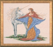 Design Works Crafts Unicorn counted cross stitch picture kit