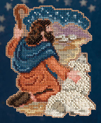 Mill Hill Nativity Trilogy Benjamin Christmas Ornament counted cross stitch kit