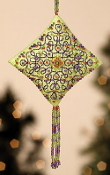 Mill Hill Tiny Treasured Diamond Beaded counted cross stitch kit with treasures, Citrus Parfait