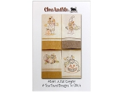 CleoAndMe A Fall Sampler - Four tea towel designs to stitch, embroidery patterns