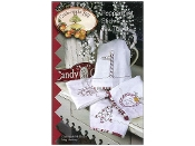Crabapple Hill Studio Peppermint Stick Tea Towels - hand embroidery patterns