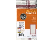 Aunt Marthas three pack Maroon stripe cotton kitchen dish towels