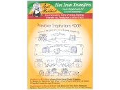 Aunt Martha's Embroidery patterns Primitive Inspirations hot iron on transfers
