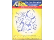 Aunt Martha's Embroidery patterns Love in Bloom, Animals hot iron on transfers