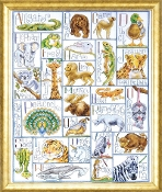 Design Works Crafts Animal ABC counted cross stitch picture kit