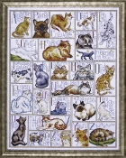 Design Works Crafts ABC Cats counted cross stitch picture kit