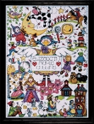 Design Works Crafts Nursery Rhymes counted cross stitch picture kit