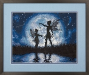 Dimensions Counted cross stitch picture kit - Twilight Silhouette - Fairies