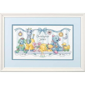 Dimensions Counted cross stitch picture kit - Baby's Friends Birth Record